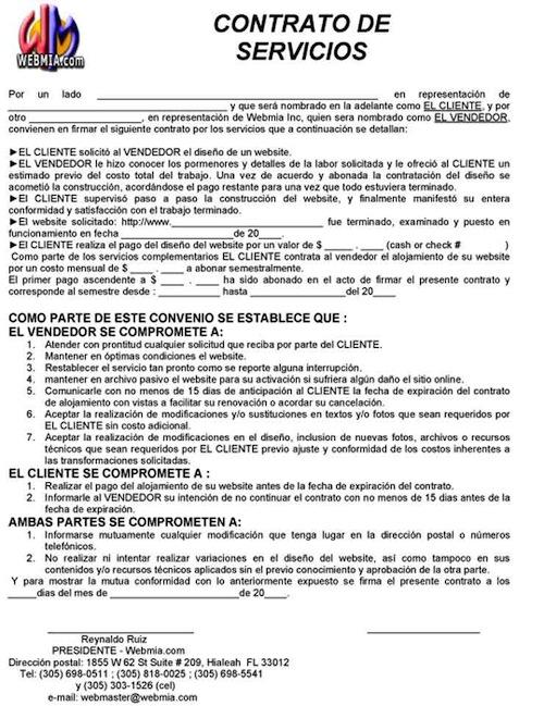 Contrato de servicios en empresas como tramitar Contrato laboral de trabajo