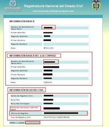 certificado de matrimonio 4 Certificado de matrimonio