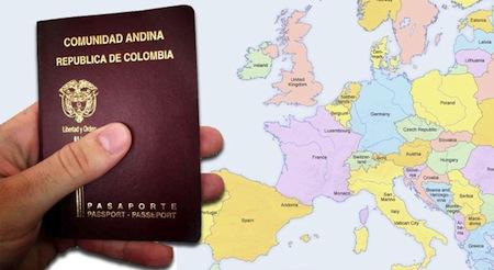 Visados para Colombia y Peru