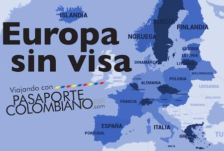 Países a donde puede viajar sin visa Schengen