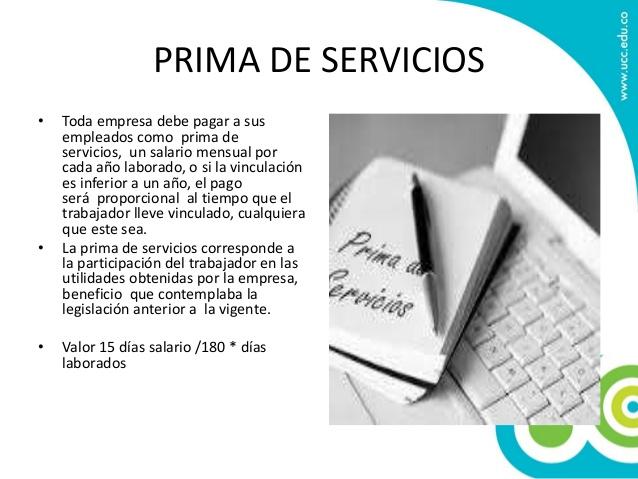 La Prima de Servicios